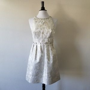 Eliza J New York A-Line Grey Silver Dress 6